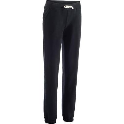 מכנסיים 500 בגזרה רגילה ונמתחת לנשים - שחור