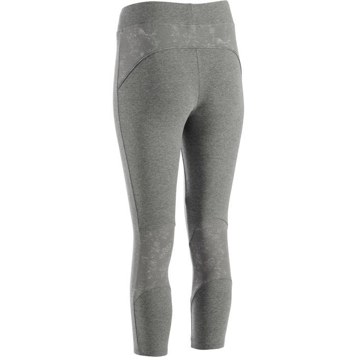 Legging 7/8 520 Gym & Pilates femme gris chiné - 1273293