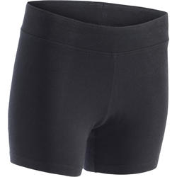 500 Fit+ Women's Slim-Fit Gym Shorts - Black