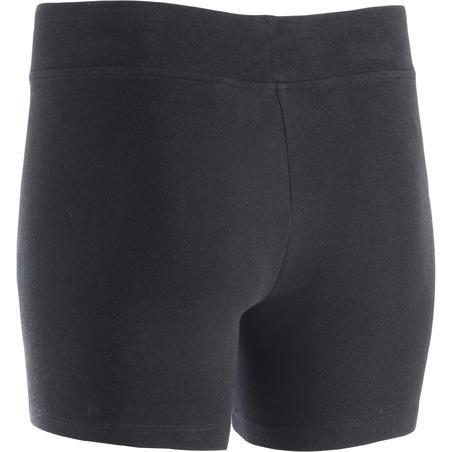 Celana Pendek Senam Slim-Fit Wanita Fit+ 500 - Hitam