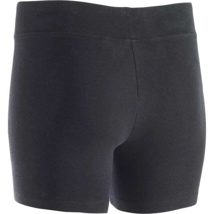 Dames shorty FIT+ 500 voor gym en stretching slim fit zwart