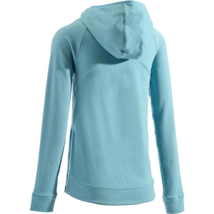 Sweat-shirt 900 Gym & Pilates Femme capuche bleu glacier - 1273315