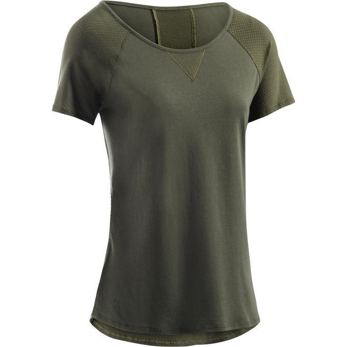 T-Shirt 900 manches courtes Gym & Pilates femme - 1273320