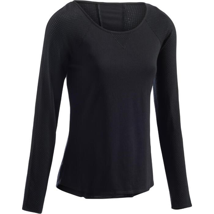 T-Shirt 900 manches longues Gym & Pilates Femme - 1273340