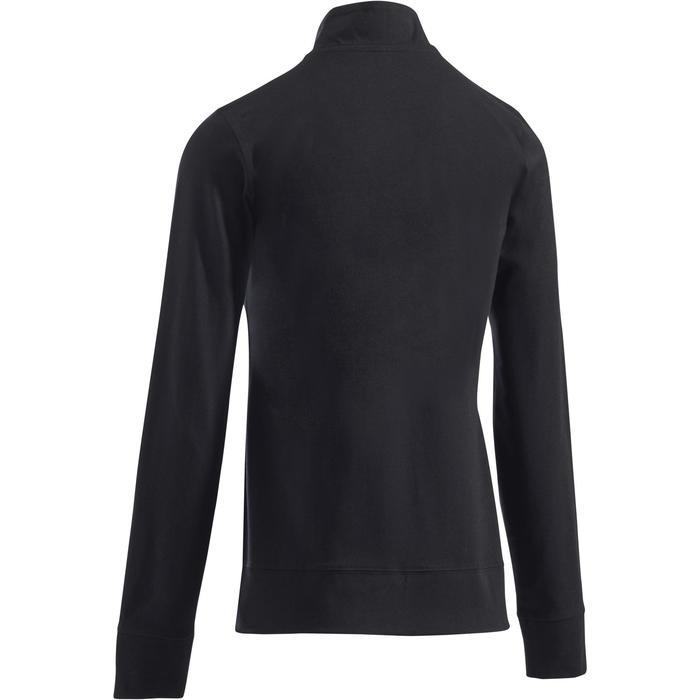 Veste 100 Gym & Pilates Femme sans capuche noir - 1273352