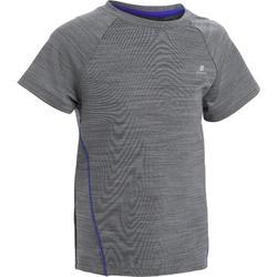Camiseta de manga corta S500 gimnasia infantil gris