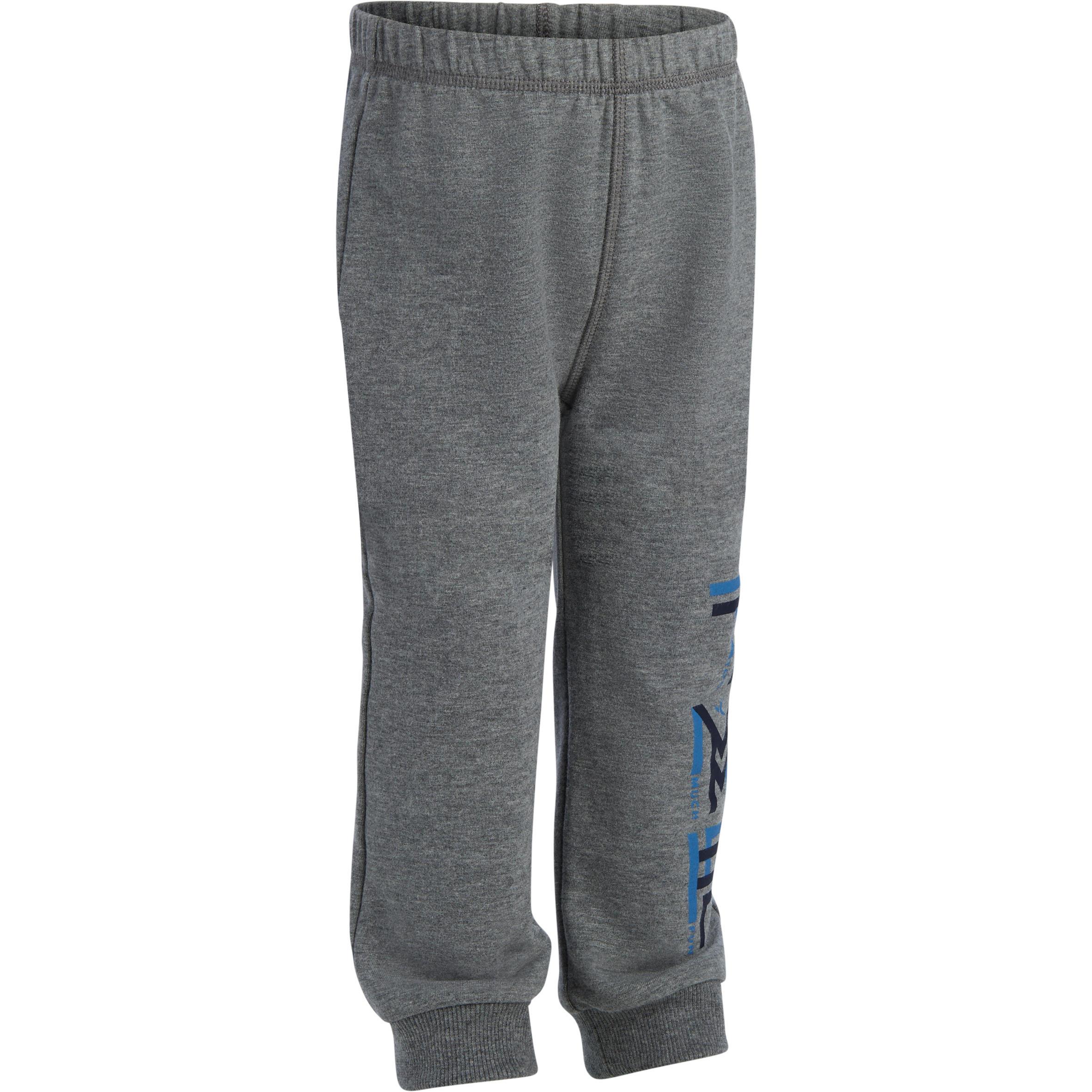 Pants 520 cálido gimnasia infantil estampado gris