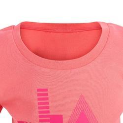 Camiseta de mangas cortas 100 gimnasia infantil rosa estampado