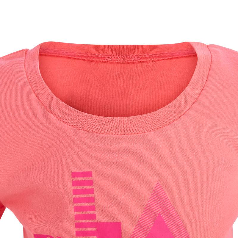 T-Shirt 500 manches courtes Gym Baby imprimé rose
