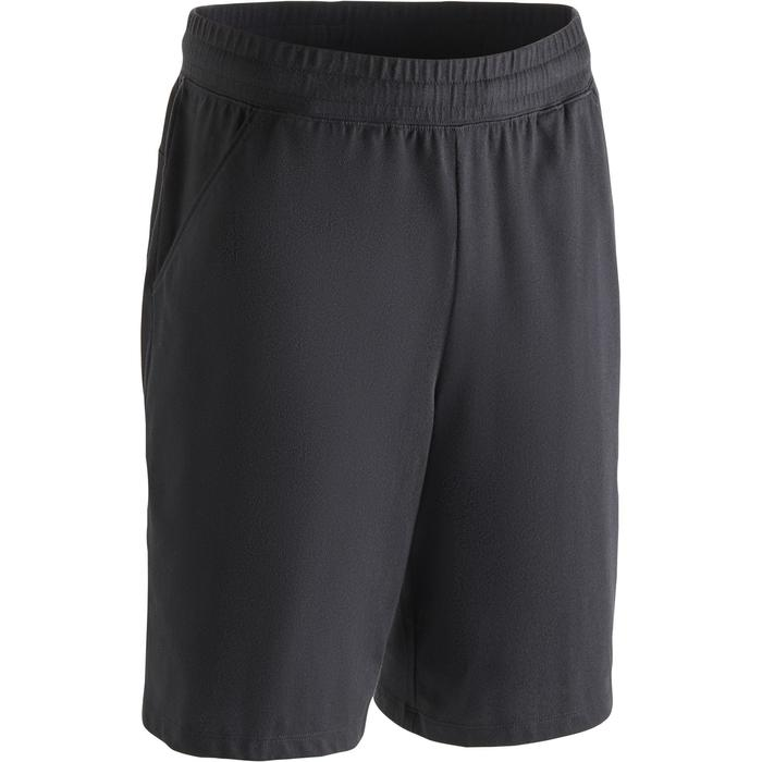 Short 500 regular au dessus du genou Gym Stretching noir homme - 1273447