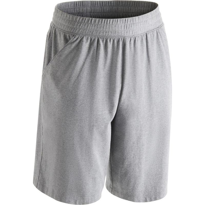 Pánské šortky 500 regular na cvičení šedé  24a62ceebe