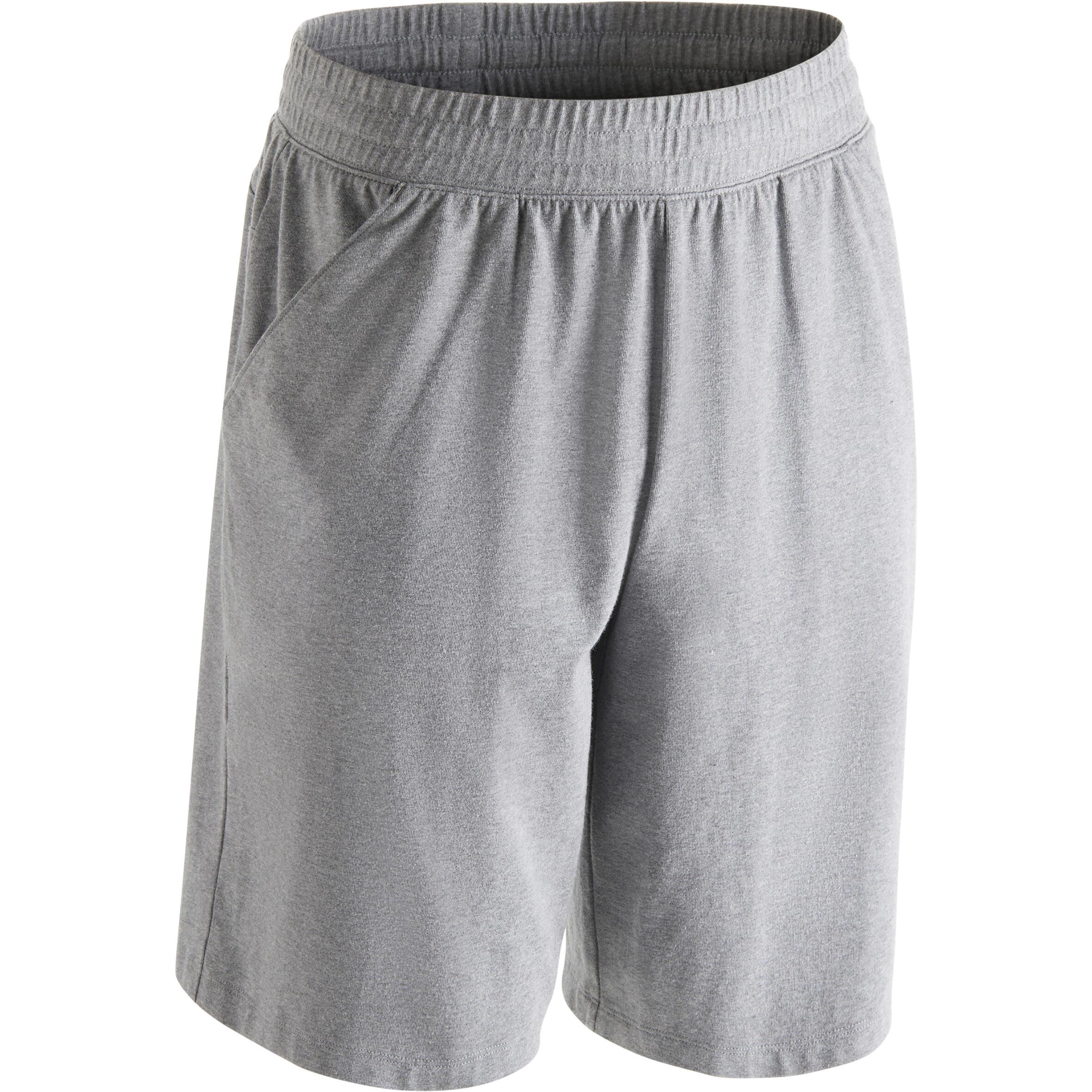 Short 500 regular largo encima de rodillas gimnasia y pilates hombre gris jasp