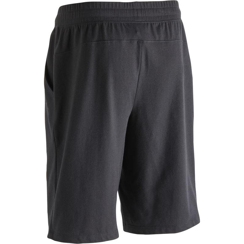 7869b065ec1 Pánské šortky 500 na cvičení nad kolena černé