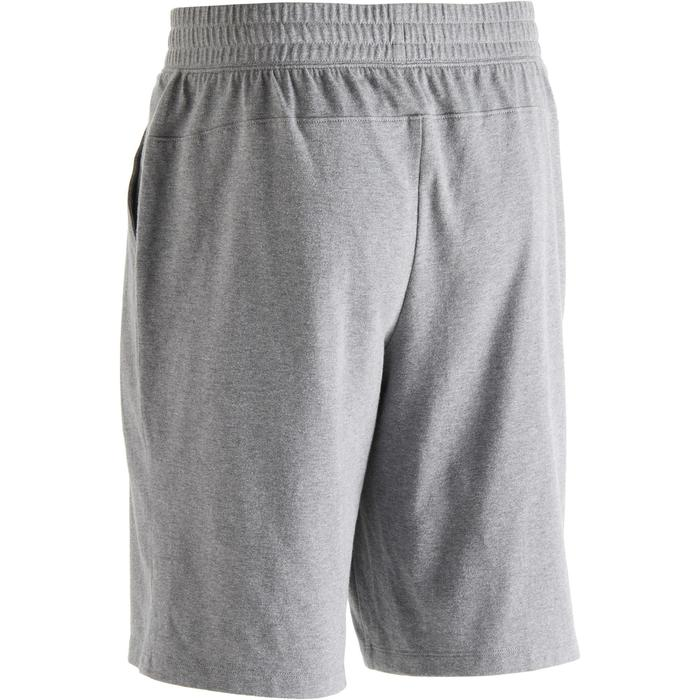 Short 500 regular au dessus du genou Pilates Gym douce homme gris chiné