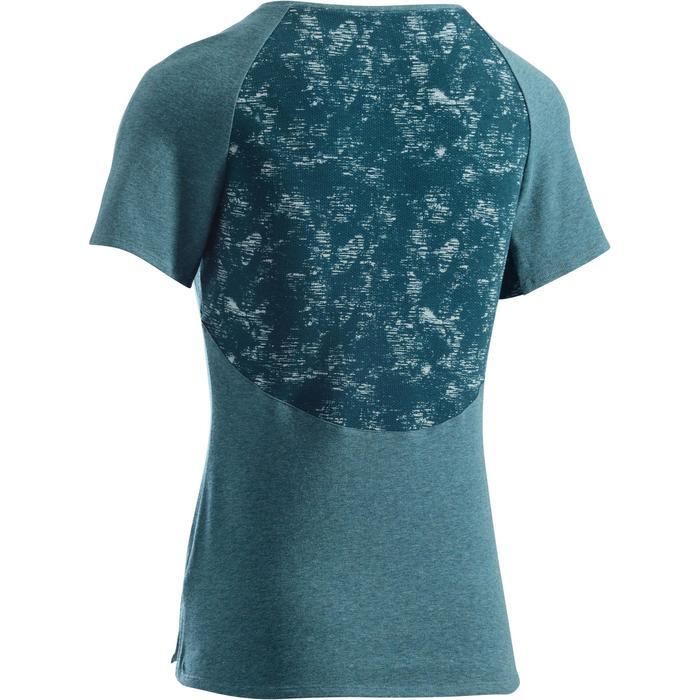 T-Shirt 520 manches courtes Gym & Pilates femme gris chiné clair - 1273461