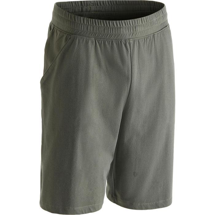 Short 500 regular au dessus du genou Gym Stretching noir homme - 1273463