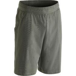 500 Knee-Length Regular-Fit Gym Stretching Shorts - Black