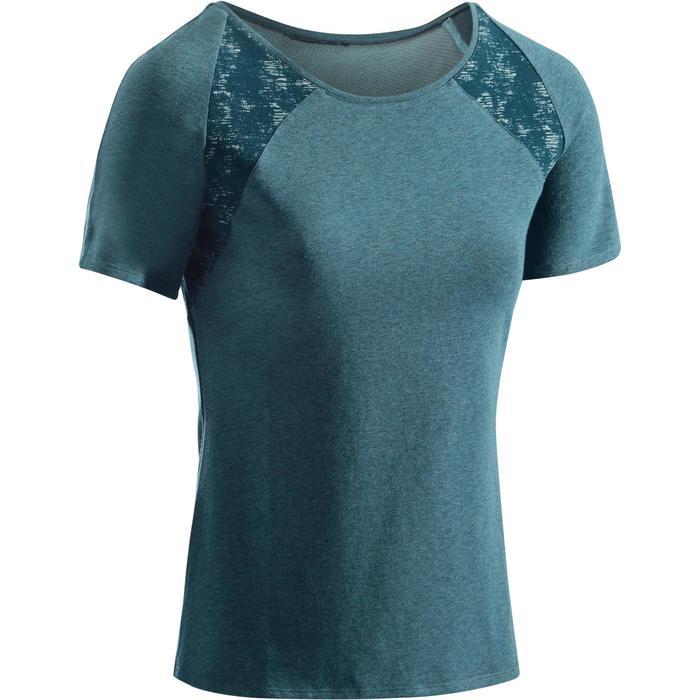 T-Shirt 520 manches courtes Gym & Pilates femme gris chiné clair - 1273466
