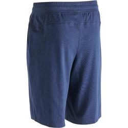 Short 500 regular au dessus du genou Pilates Gym douce homme bleu marine