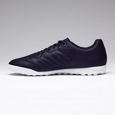 Chaussure de football adulte terrain dur Agility 100 HG noire blanche