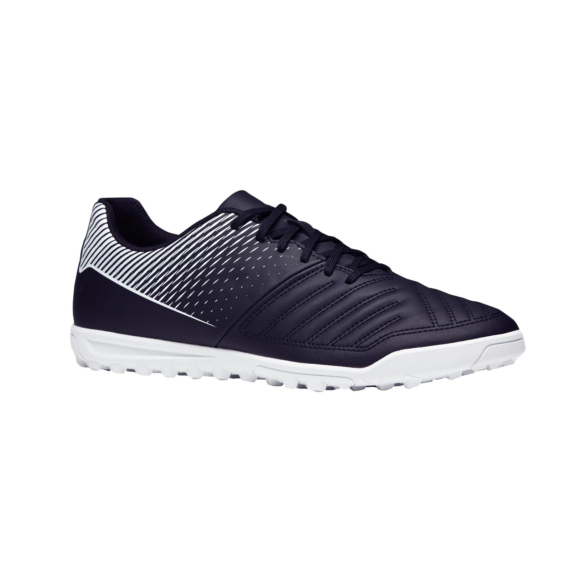 Chaussure de soccer adulte terrains durs Agilité 100 HG noire blanche