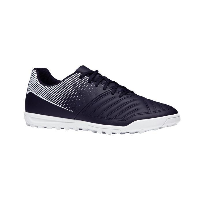 成人款偏硬球場足球鞋Agility 100 HG-黑白配色
