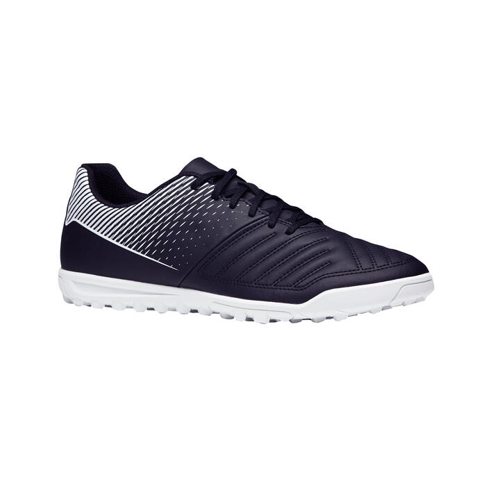 Chaussure de football adulte terrains durs Agility 100 HG noire blanche - 1273536