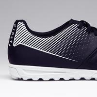 Chaussure de football adulte terrain dur Agility 100 Turf TF noire blanche