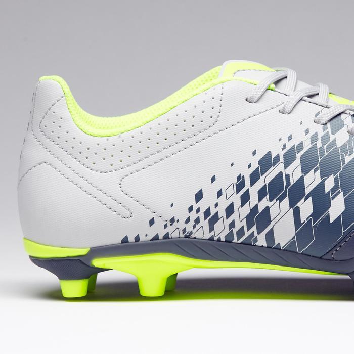 Fußballschuhe Nocken Agility 500 FG Trockene Böden Erwachsene grau/gelb