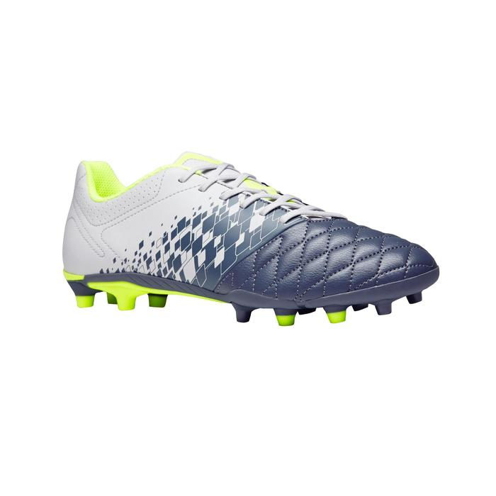Voetbalschoenen voor volwassenen Agility 500 FG voor droog terrein grijs geel