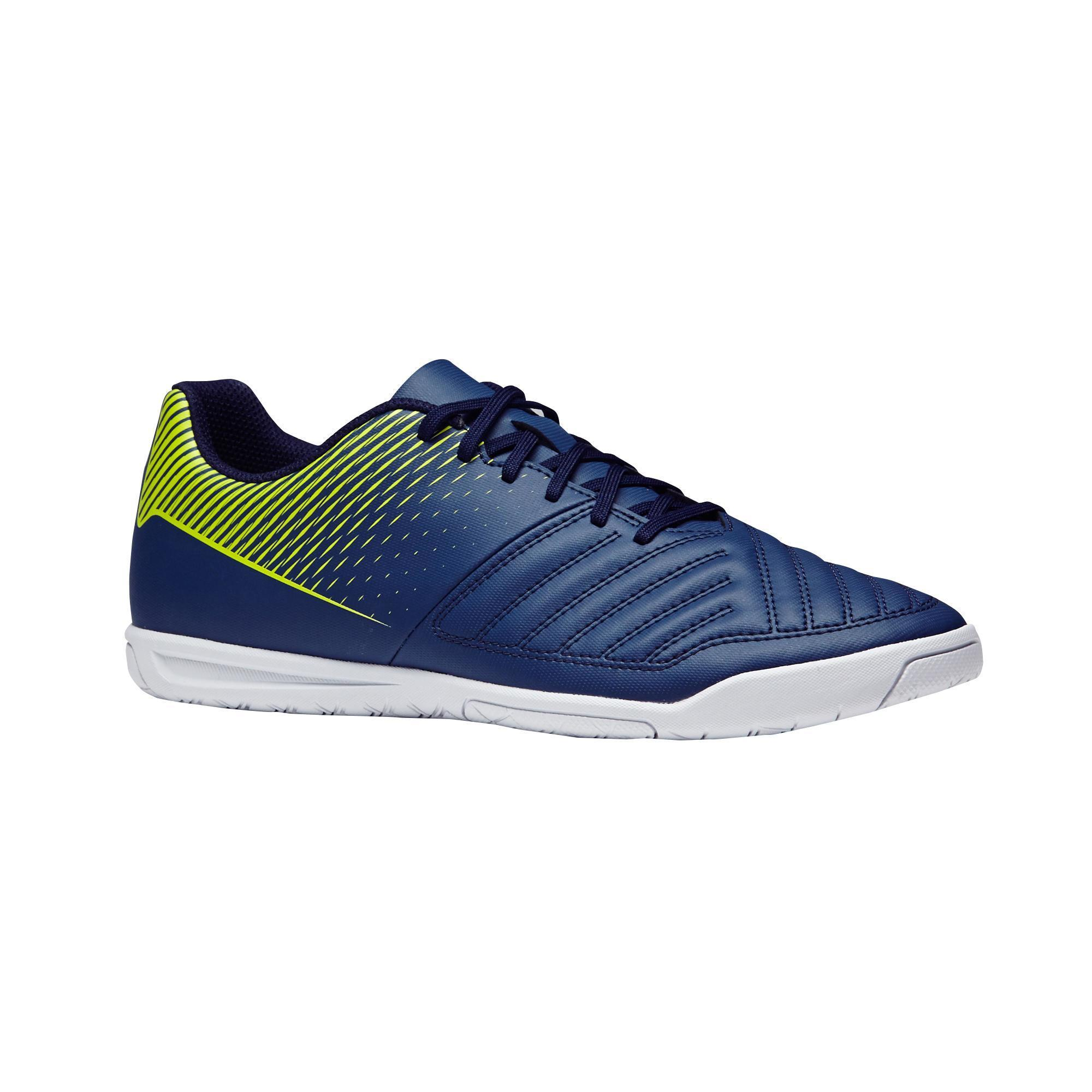 Hallenschuhe Futsal Fußball Agility 100 blau/gelb | Schuhe > Sportschuhe > Hallenschuhe | Kipsta