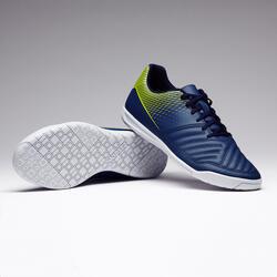 Zaalvoetbalschoenen Agility 100 voor volwassenen blauw/geel