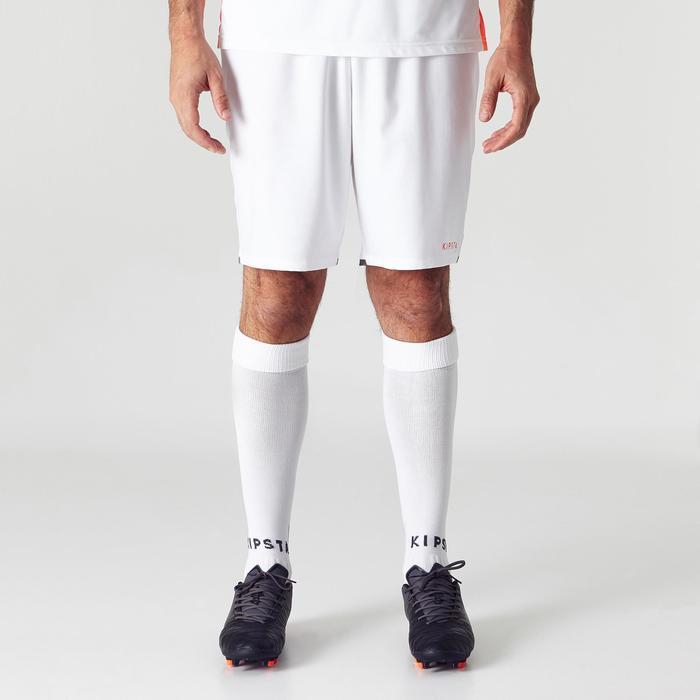 Pantalón corto de fútbol adulto F500 blanco