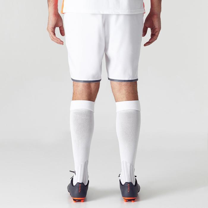 Fußballshorts F500 Erwachsene weiß