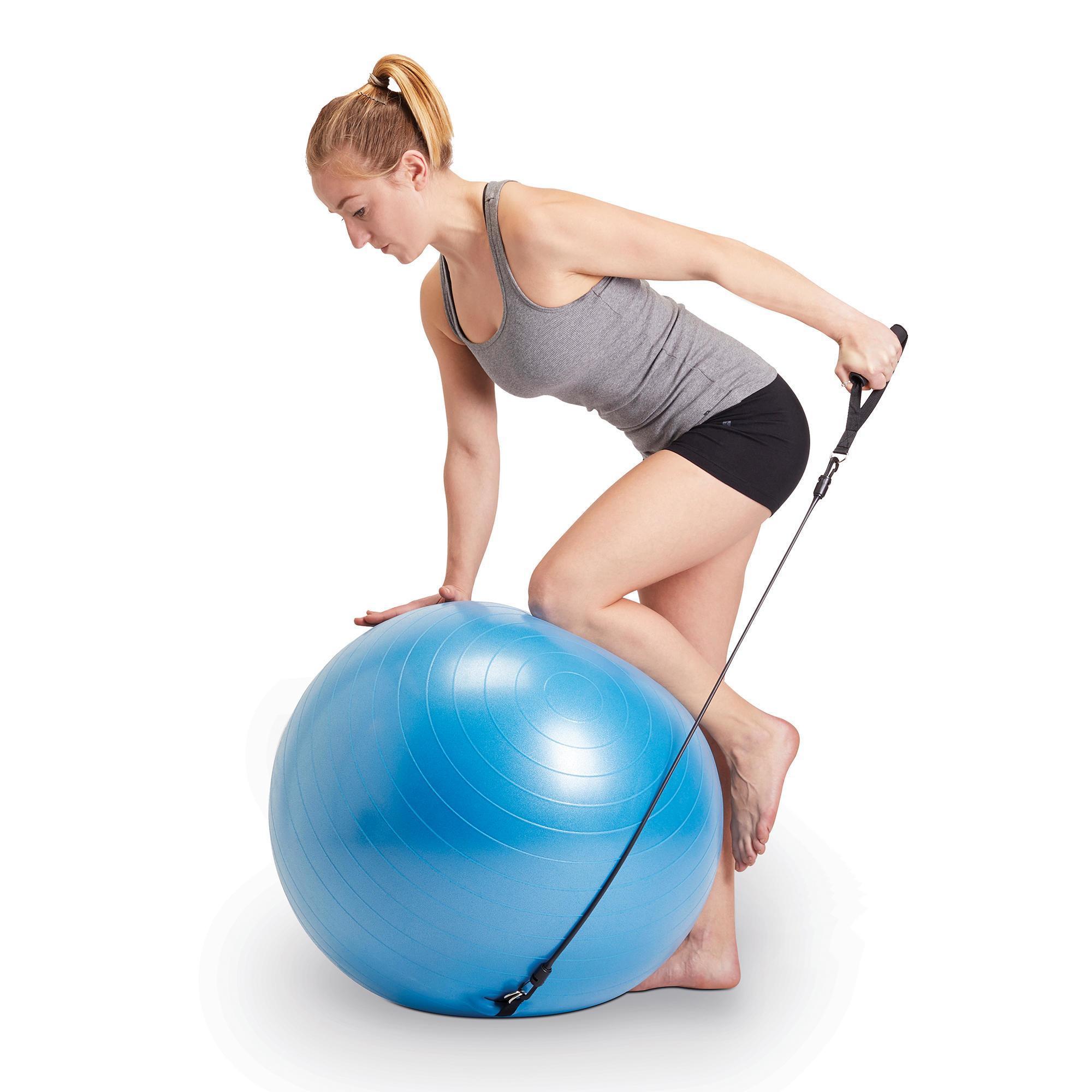 swiss ball 120 pilates medium elastice domyos by decathlon