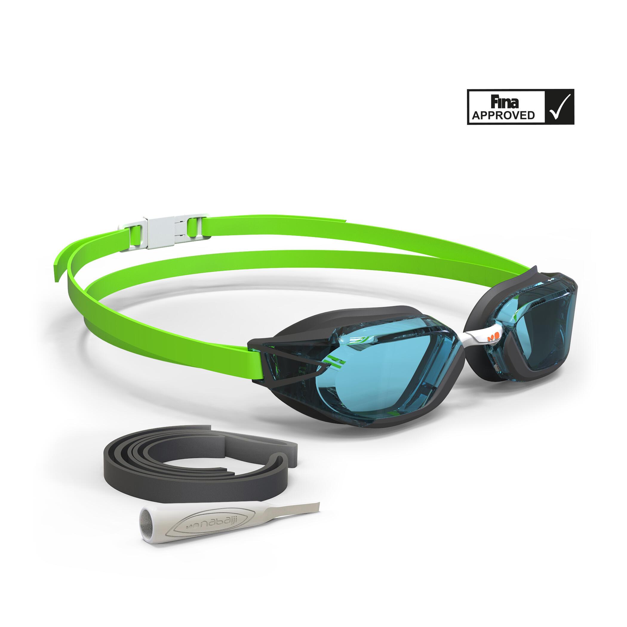 B-Fast Swimming Goggles - Black Light Green