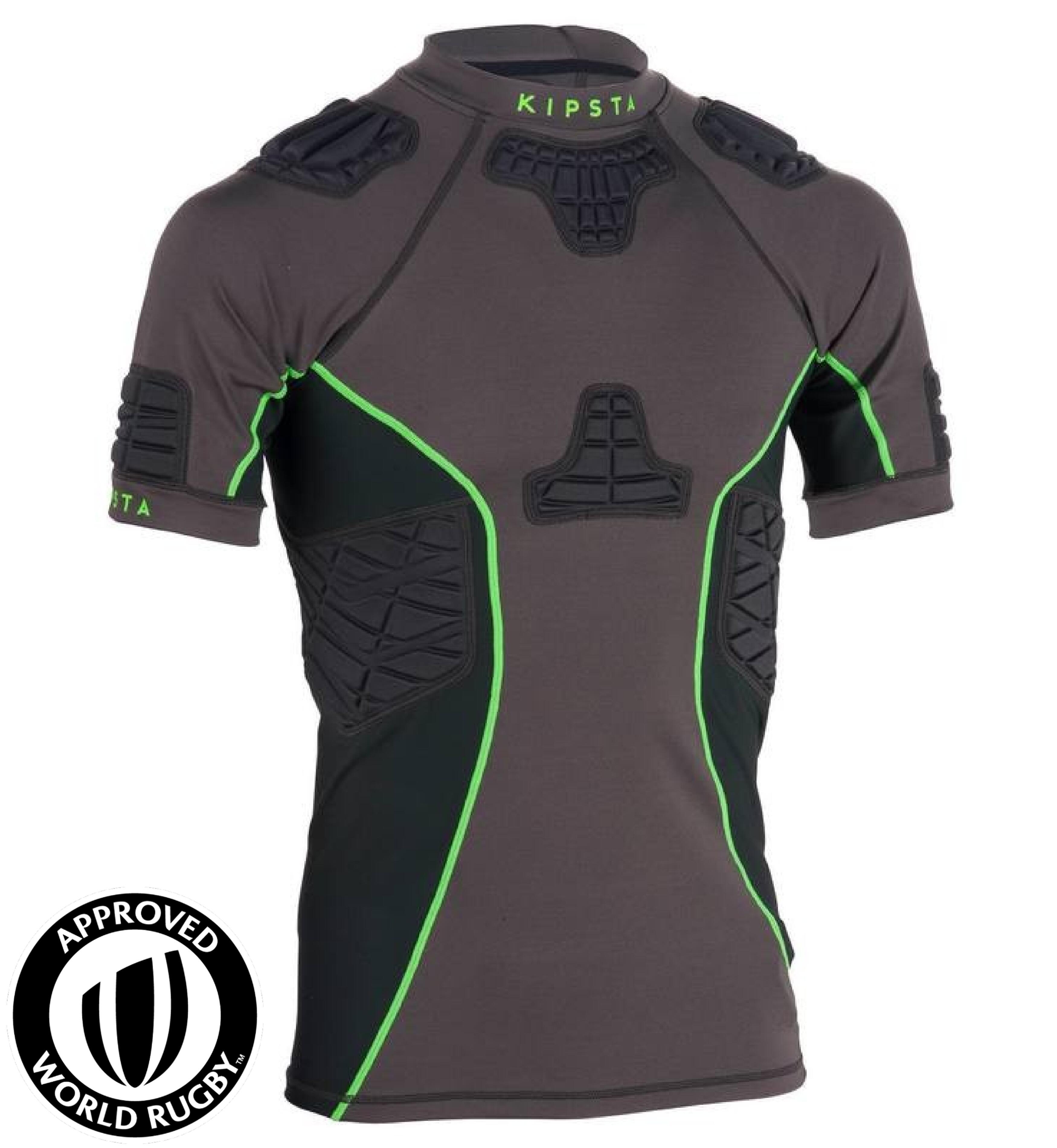Kipsta Shoulder pad rugby volwassenen Full H 900 grijs/groen