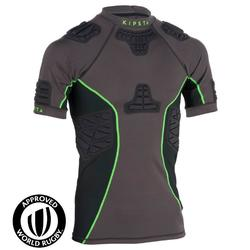 成人款橄欖球肩胸墊Full H 900-灰色/綠色
