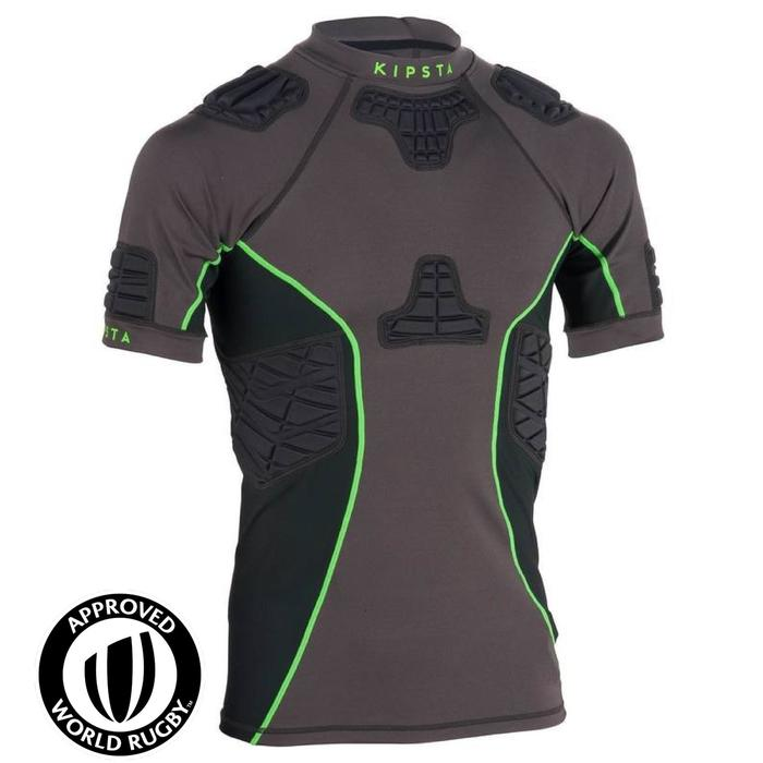 Shoulder pad rugby volwassenen Full H 900 grijs/groen