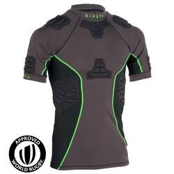 R900 Adult Rugby Shoulder Pads - Grey/Green
