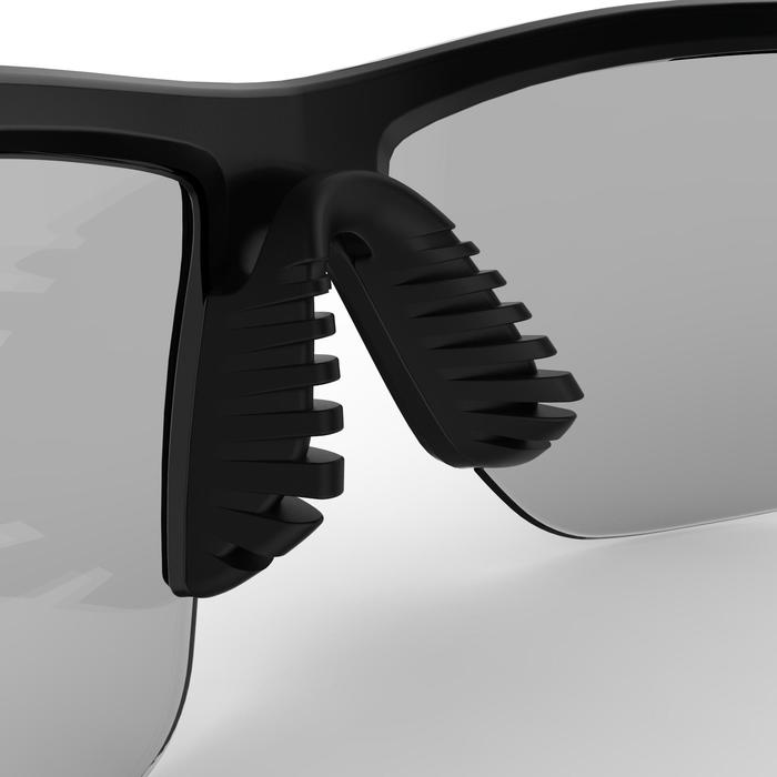 RUNTRAIL ADULTS RUNNING GLASSES PHOTOCHROMATIC CATEGORY 1 TO 3 - BLACK