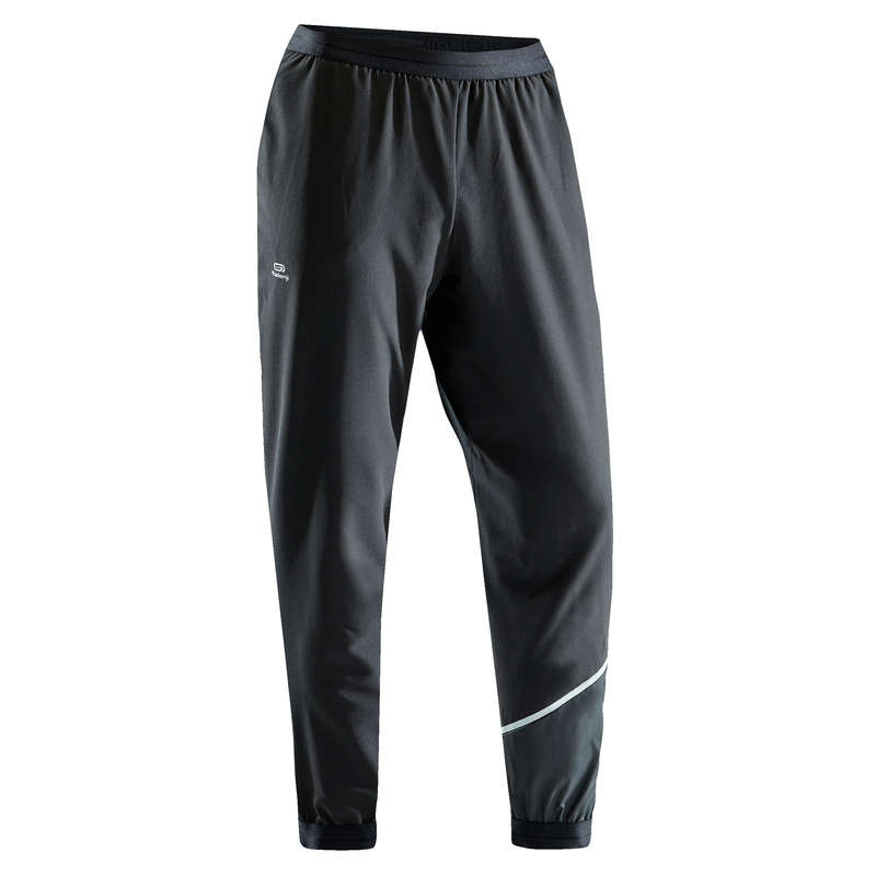 OCCAS MAN JOG WARM/MILD WTHR CLOTHES Running - RUN DRY M TROUSERS - BLACK KALENJI - Running Clothing