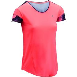 500 Women's Cardio Fitness T-Shirt - Neon Pink