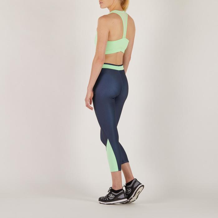 Top de fitness cardio para mujer 100 Domyos verde menta