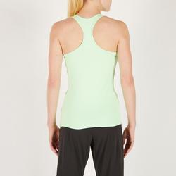 Майка MY TOP для фитнеса и кардиотренировок женская мятно–зеленая 100 Domyos