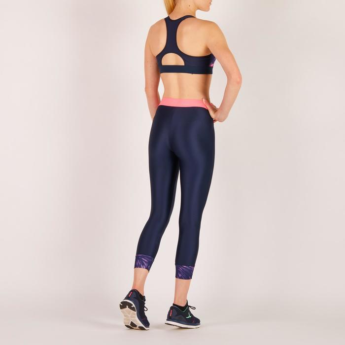 Brassière fitness cardio femme imprimés géométriques noirs 500 Domyos - 1274437
