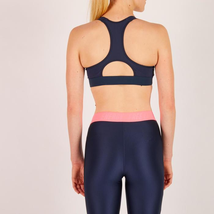 Brassière fitness cardio femme imprimés géométriques noirs 500 Domyos - 1274447