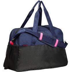 Tas voor cardiofitness 30 liter blauw/zwart/roze