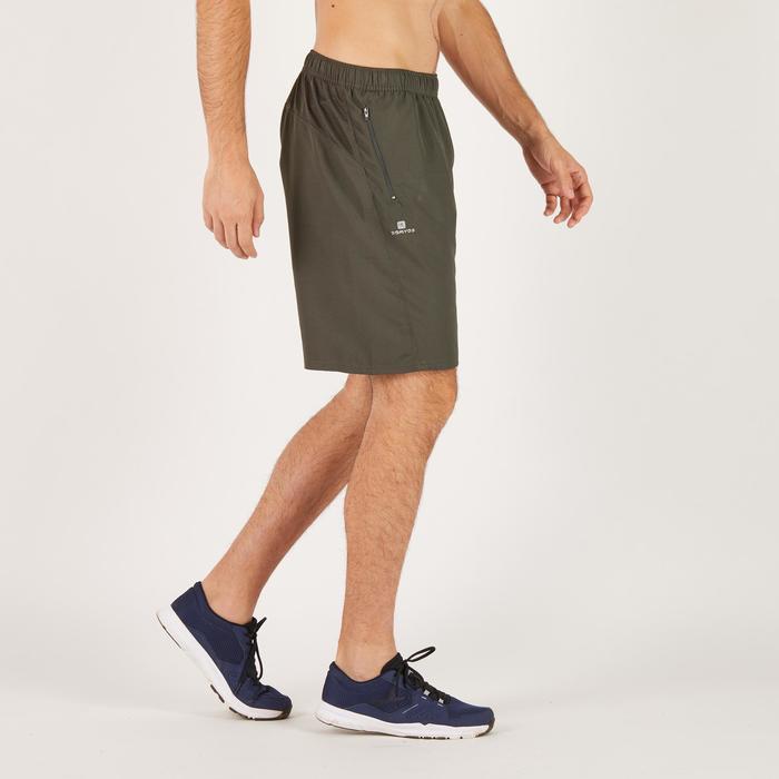 Short de fitness cardio para hombre caqui FST120