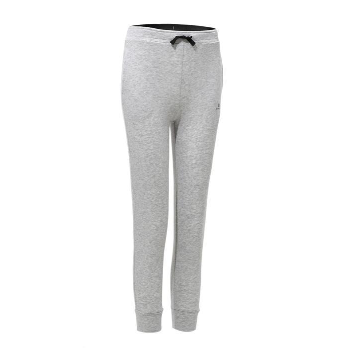 Pantalón ligero 500 gimnasia niña gris claro
